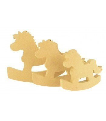 18mm Freestanding MDF Rocking Horse Shape