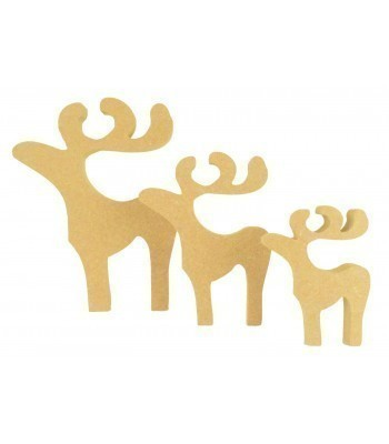 18mm Freestanding MDF Basic Reindeer Shape