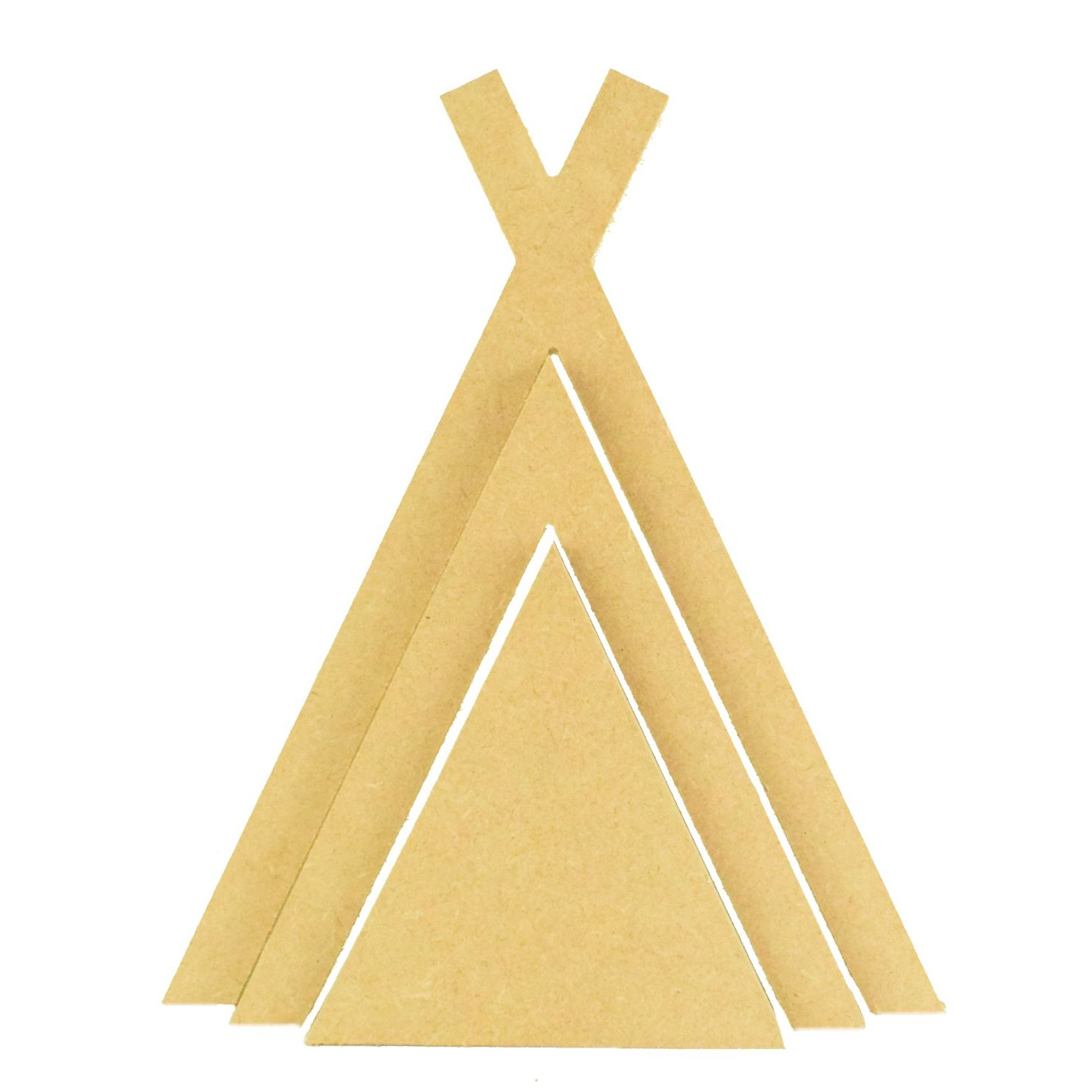 FREE STANDING MDF 3D TRIANGLE STACKER WOODEN CRAFT SHAPE