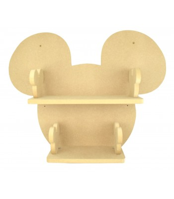 Routered 18mm MDF Quality Flat packed Mouse Head Large DVD Shelf