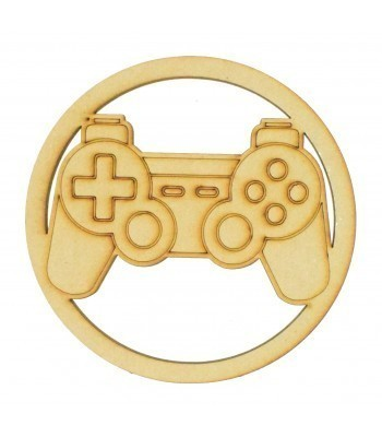 Laser Cut Mini Dream Catcher Frame with Playstation Controller Shape Inside