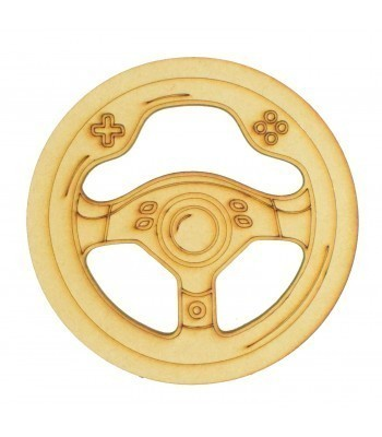 Laser Cut Mini Dream Catcher Frame with Gaming Steering Wheel Shape Inside