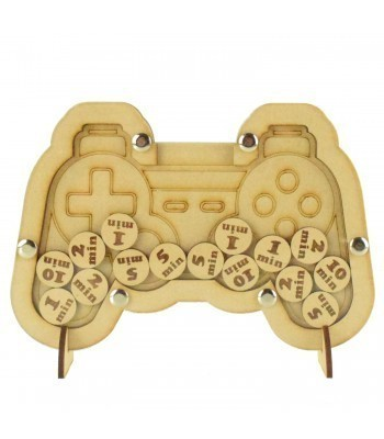 Laser Cut Playstation Controller Childrens Budget Reward Chart Drop Box - Token Options