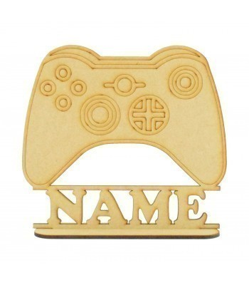 Laser Cut Personalised X-Box Controller Shape on a Stand
