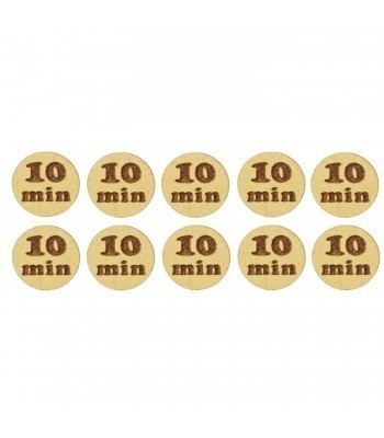 Laser Cut '10 Min' 20mm Gaming Tokens - Pack of 10