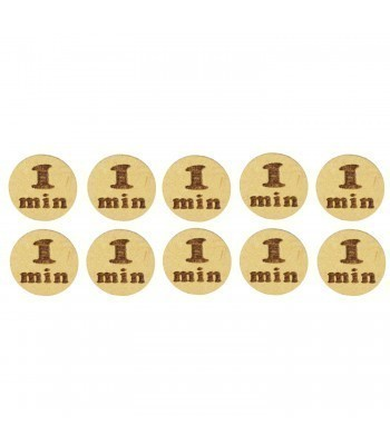 Laser Cut '1 Min' 20mm Gaming Tokens - Pack of 10