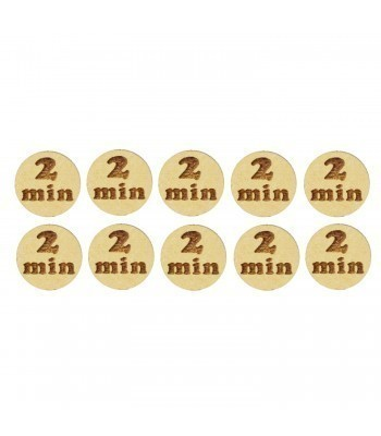 Laser Cut '2 Min' 20mm Gaming Tokens - Pack of 10