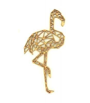 Laser Cut Flamingo Geometric Wall Art - Size Options - Plaque Options