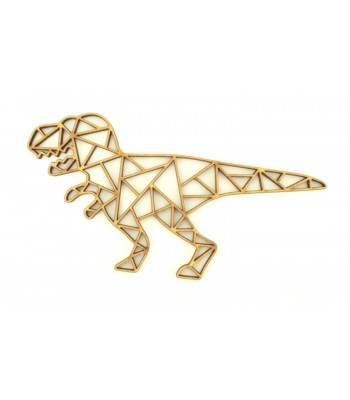 Laser Cut T-Rex Geometric Wall Art - Size Options - Plaque Options