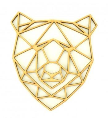 Laser Cut Bear Geometric Wall Art - Size Options - Plaque Options