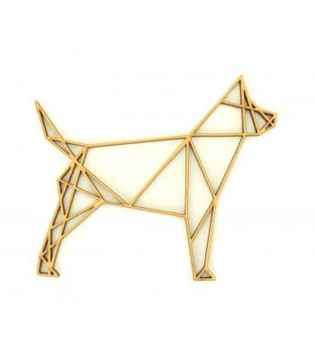 Laser Cut Dog Geometric Wall Art - Size Options - Plaque Options