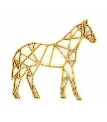 Laser Cut Horse Geometric Wall Art - Size Options - Plaque Options