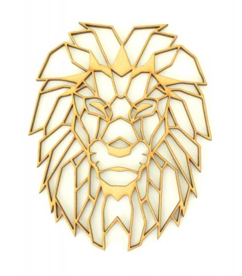 Laser Cut Lion (Design 1) Geometric Wall Art - Size Options - Plaque Options