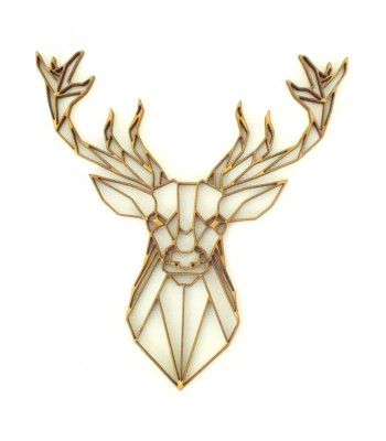 Laser Cut Stag Head Geometric Wall Art - Size Options - Plaque Options