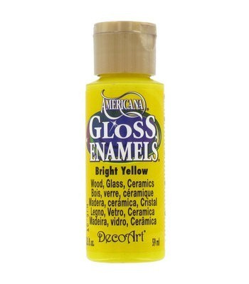 Decoart Americana Gloss Enamel Paint 2oz - Bright Yellow