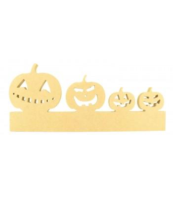 18mm Freestanding Halloween Pumpkin Family on a stand