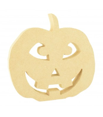 18mm Freestanding MDF Smiley Pumpkin Shape