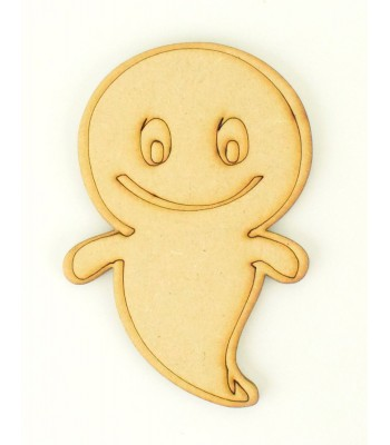 Laser Cut Friendly Ghost Shape