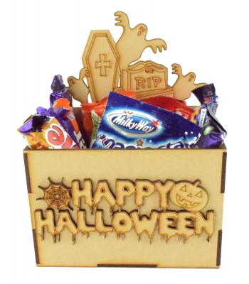 Laser Cut Halloween Hamper Treat Boxes - Ghost Theme