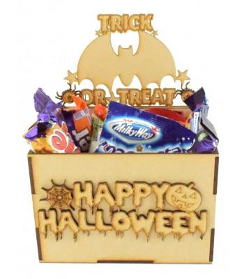 Laser Cut Halloween Hamper Treat Boxes - Bat Theme