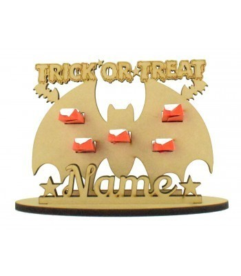 6mm Bat Shape Kinder Chocolate Bars Halloween Holder on a Stand - Stand Options