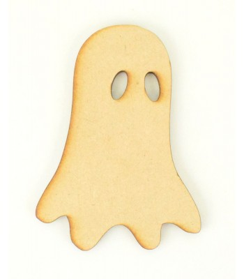 Laser Cut Spooky Ghost Shape