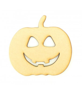 Laser Cut Happy Pumpkin Craft Shape