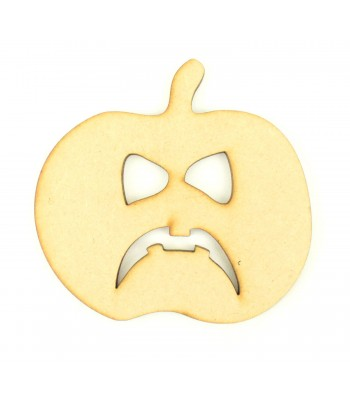 Laser Cut Angry Pumpkin Craft Shape