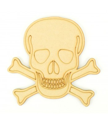 Laser Cut Skull and Crossbones Shape