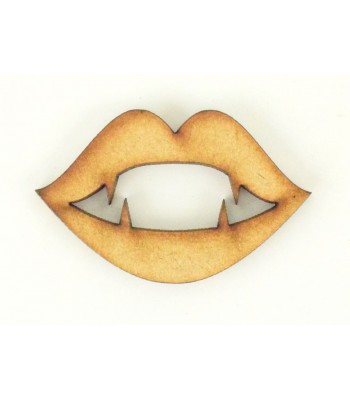 Laser Cut Vampire Kiss Shape