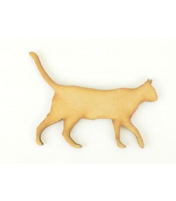 Laser Cut Walking Cat Shape