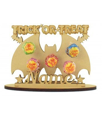 6mm Bat Shape Lolly Pop Halloween Holder on a Stand - Stand Options