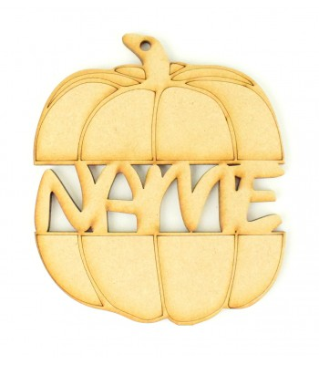 Laser Cut Personalised Split Hanging Pumpkin