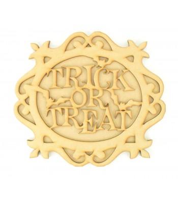 Laser Cut 3D Trick or Treat Plaque