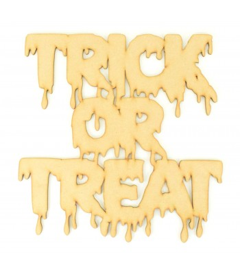 Laser Cut 'Trick or Treat' Dripping Effect Halloween Sign