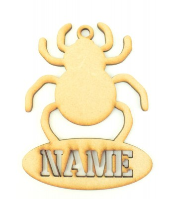 Laser Cut Personalised Halloween Tag/Decoration - Spider