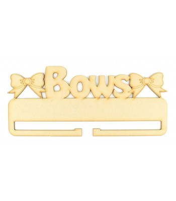 Laser Cut 'Bows' Rail/Holder