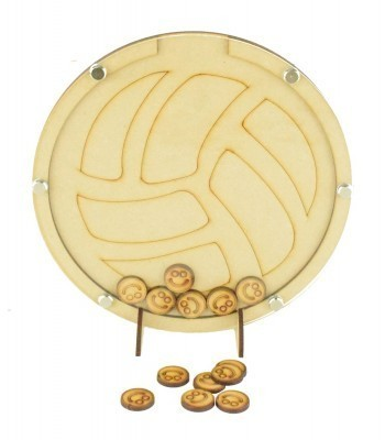 Laser Cut Football Childrens Budget Reward Chart Drop Box - Smiley Face Tokens
