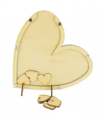 Laser Cut Budget Heart Wedding Drop Box - 30mm Heart Tokens