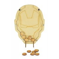 Laser Cut Ironman Childrens Budget Reward Chart Drop Box - Smiley Face Tokens
