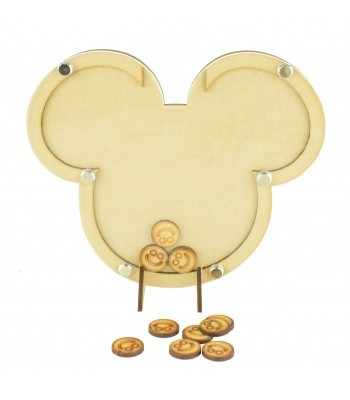 Laser Cut Mouse Head Childrens Budget Reward Chart Drop Box - Smiley Face Tokens