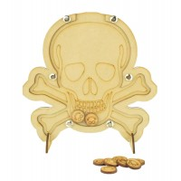 Laser Cut Pirate Skull Childrens Budget Reward Chart Drop Box - Smiley Face Tokens