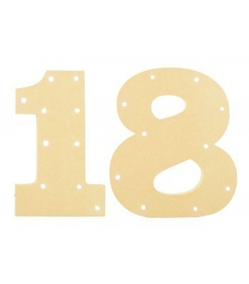 18mm Freestanding MDF Budget Birthday Number Lights - Set of 2 Lights