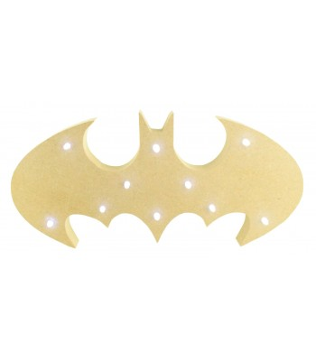 18mm Freestanding MDF Budget Batman Logo Shape Light