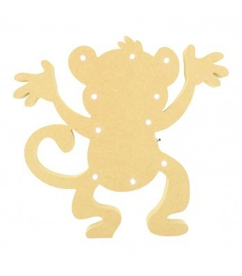 18mm Freestanding MDF Budget Light - Cheeky Monkey Shape