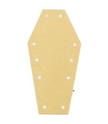 18mm Freestanding MDF Halloween Budget Light - Coffin Shape