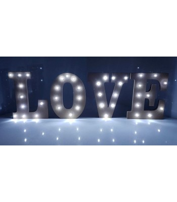 18mm Freestanding MDF Budget 'LOVE' Letter Lights - Set of 4 Lights