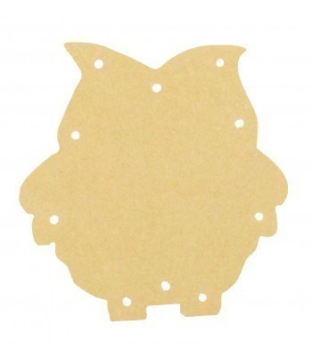18mm Freestanding MDF Budget Light - Owl Shape