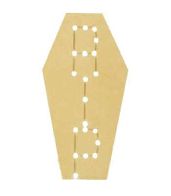 18mm Freestanding MDF Halloween Budget Light - RIP Coffin Shape