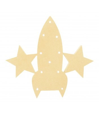 18mm Freestanding MDF Budget Light - Rocket Shape
